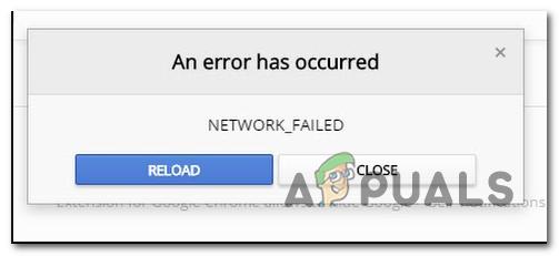 Korrigieren Sie den Google Chrome Web Store NETWORK_FAILED