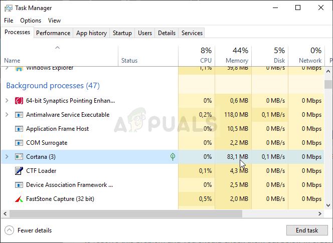 Wie kann ich Cortana mithilfe von Speicher unter Windows 10 reparieren?