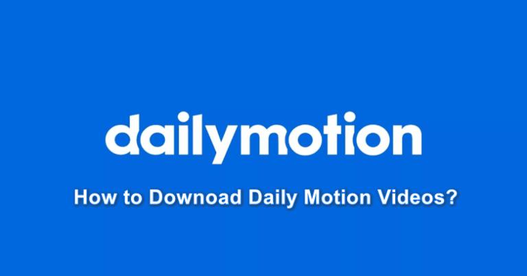 Wie lade ich Videos von Dailymotion herunter?