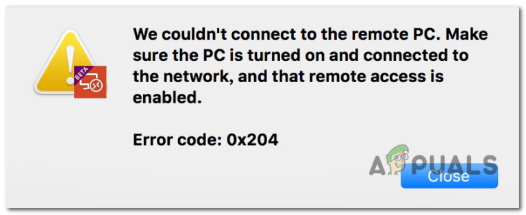 Wie behebt man den Remotedesktop-Fehlercode 0x204 auf einem Mac?