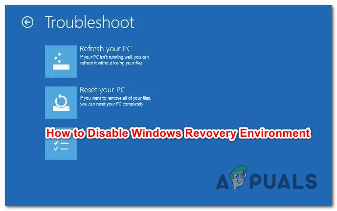 Wie deaktiviere / aktiviere ich die Windows-Wiederherstellungsumgebung unter Windows 10?