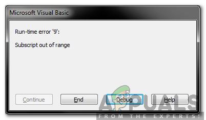 """Wie behebe ich den Fehler """"Index außerhalb des Bereichs"""" in Visual Basic für Anwendungen?"""