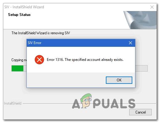 [FIX] 'Das angegebene Konto ist bereits vorhanden' (Fehler 1316) im InstallShield-Assistenten