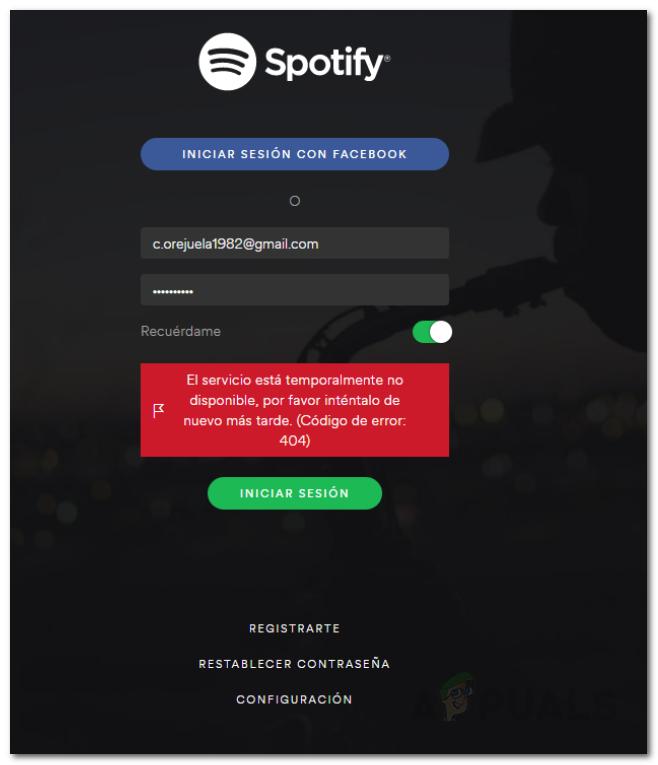 Spotify-Anmeldefehler 404: Fehlerbehebung