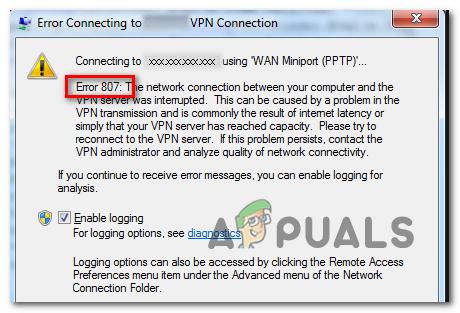 Wie behebe ich den VPN-Fehler 807 unter Windows?