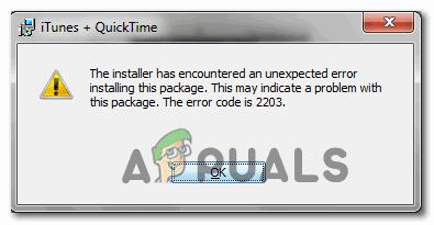 [FIX] Fehlercode 2203 Bei der Installation eines Programms