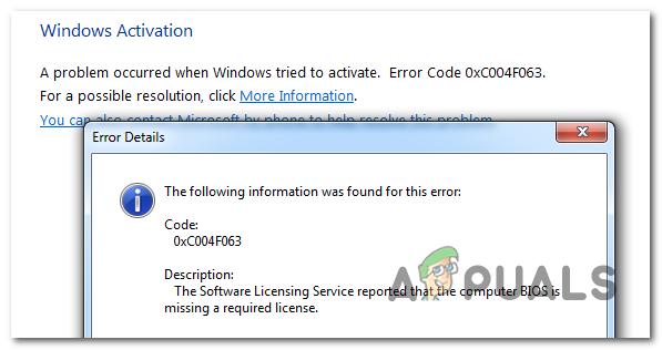 Wie behebt man den Windows-Aktivierungsfehler 0xc004f063?
