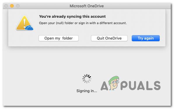 Sie synchronisieren dieses Konto bereits in OneDrive für Mac