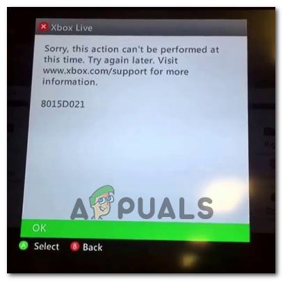 Wie behebe ich die Fehlercodes 8015D000 und 8015D021 auf Xbox 360?