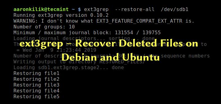 ext3grep – Gelöschte Dateien unter Debian und Ubuntu wiederherstellen