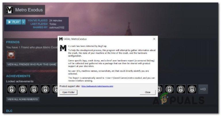 Wie behebe ich den Fehler 'FATAL: Metro Exodus' unter Windows?