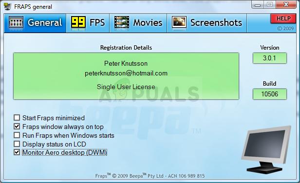 Wie behebe ich die Fraps, die unter Windows keine FPS anzeigen?