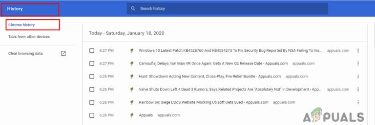 Wiederherstellen des gelöschten Browserverlaufs für Google Chrome unter Windows 10