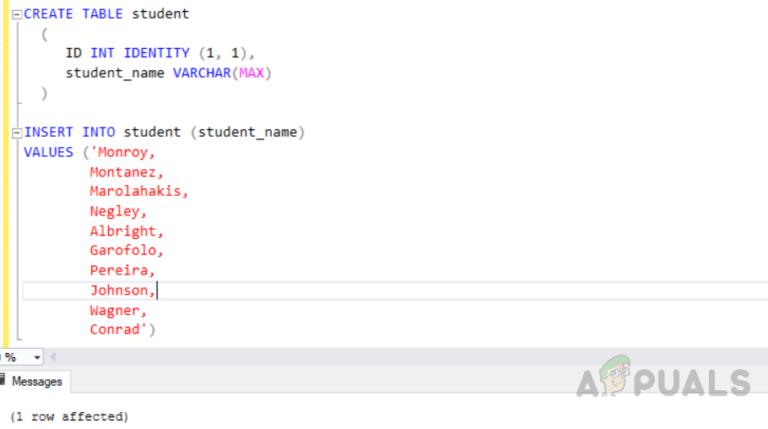 Wie teile ich einen String durch ein begrenztes Zeichen in SQL Server?