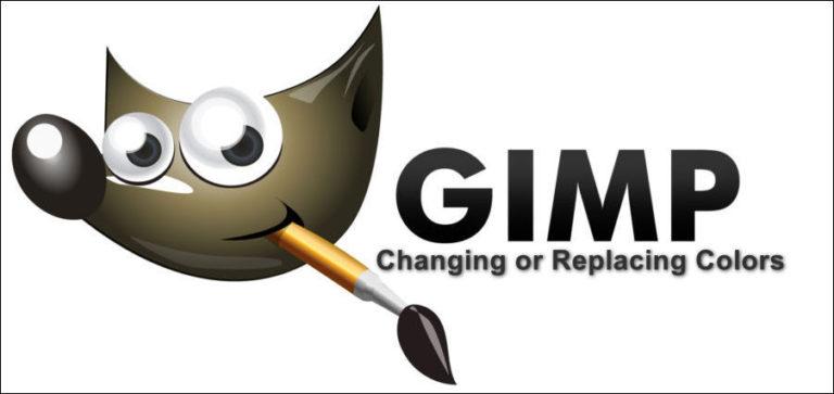 Wie ändere oder ersetze ich Farben in GIMP?