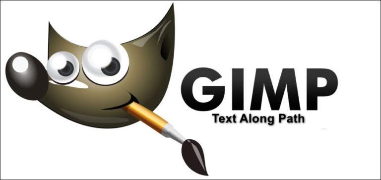 Wie verwende ich GIMP-Text entlang des Pfades, ändere Stil und Farbe des Textes?