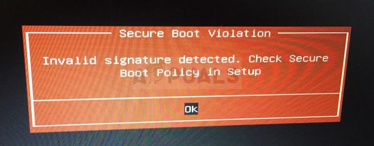 """Wie behebt man das Problem """"Sicherer Startverstoß – Ungültige Signatur erkannt"""" unter Windows?"""
