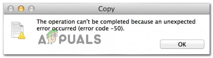 So beheben Sie den Mac-Fehlercode -50