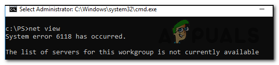 Fix: CMD-Systemfehler 6118 ist aufgetreten