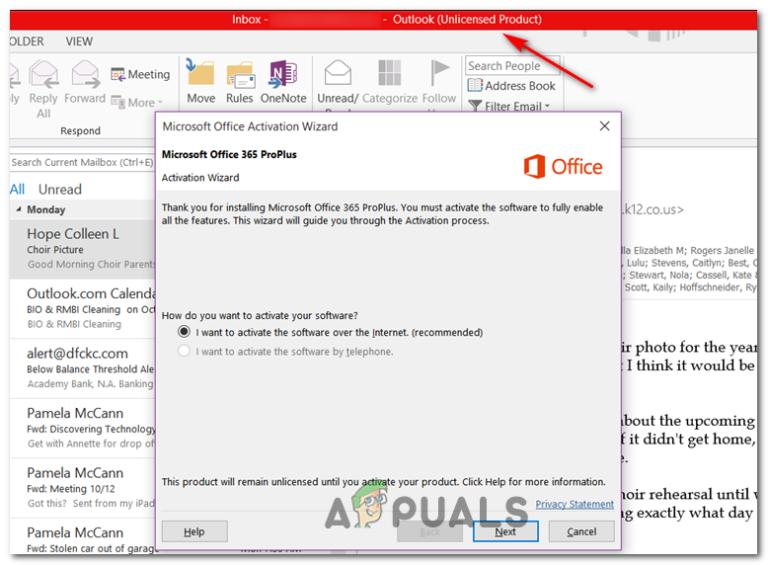"""Wie behebe ich den Outlook-Fehler """"Nicht lizenziertes Produkt""""?"""
