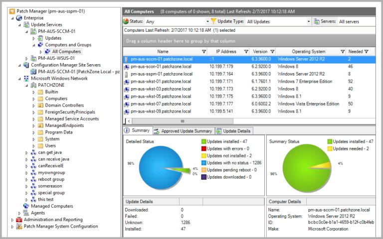 Wie verwalte und synchronisiere ich WSUS Server mit Microsoft Updates?