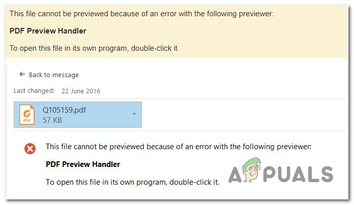 Fix: PDF Preview Handler 'Diese Datei kann nicht in der Vorschau angezeigt werden'