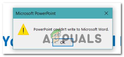 Wie behebt man, dass Powerpoint beim Erstellen von Handouts nicht in Microsoft Word schreiben konnte?
