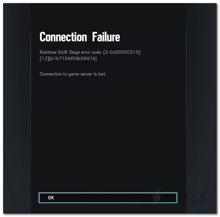 Fix: Rainbow Six Siege Verbindungsfehler 2-0x0000c015
