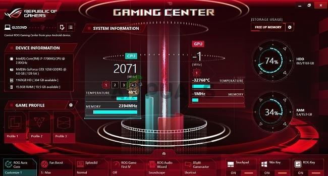 Wie behebt man, dass das ROG Gaming Center unter Windows nicht geöffnet wird?