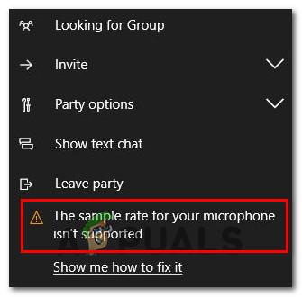 """Wie kann ich den Fehler """"Abtastrate für Ihr Mikrofon wird nicht unterstützt"""" beheben?"""