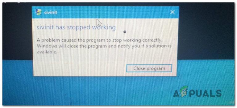 """So beheben Sie den Fehler """"Sivinit funktioniert nicht mehr"""" unter Windows"""