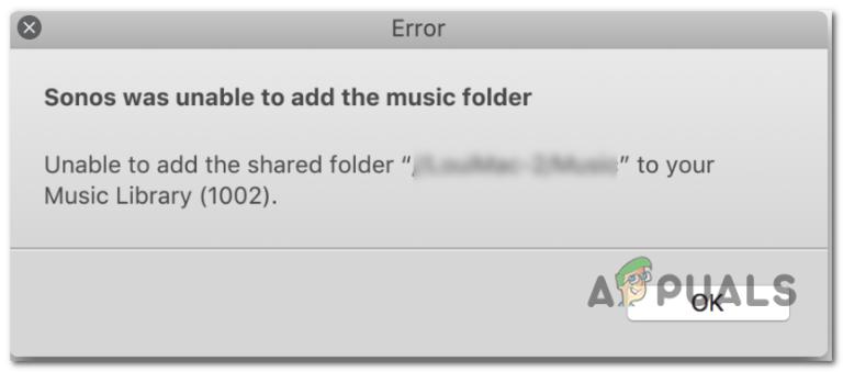 Fix: Sonos konnte den Musikordner nicht hinzufügen