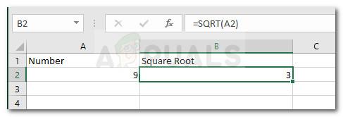 So berechnen Sie die Quadratwurzel einer Zahl in Excel