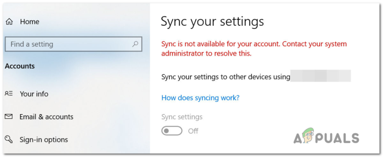 """Wie behebe ich den Fehler """"Synchronisierung ist für Ihr Konto nicht verfügbar"""" unter Windows 10?"""