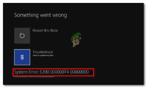Wie behebe ich den Systemfehler E200 auf Xbox One?