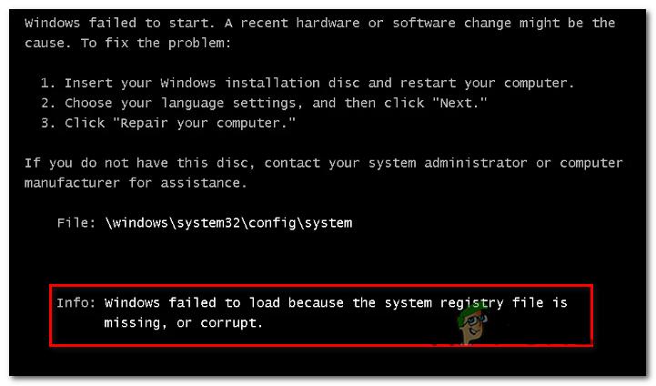 """Wie behebt man den Startfehler """"Systemregistrierungsdatei fehlt"""" unter Windows?"""