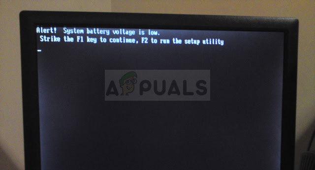 Wie behebt man, dass die Systembatteriespannung unter Windows ein niedriger Fehler ist?