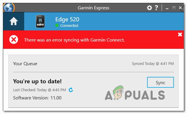 [FIX] Bei der Synchronisierung mit Garmin Connect ist ein Fehler aufgetreten