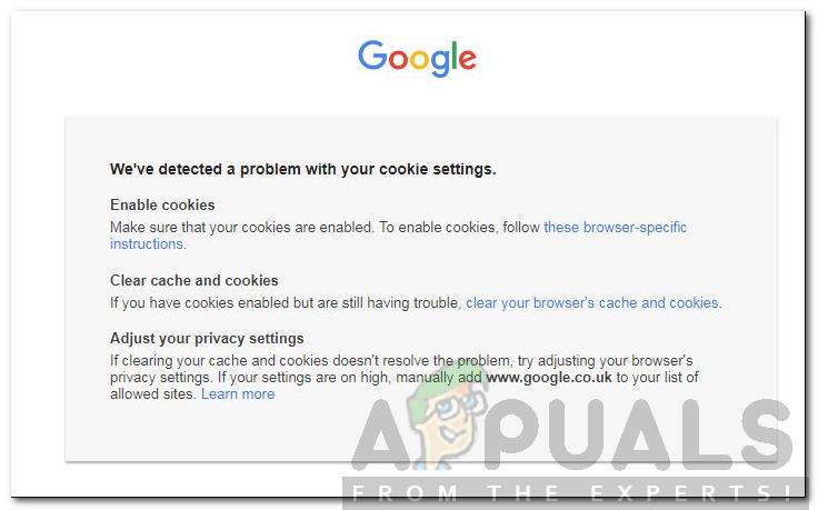 """Wie behebe ich """"Wir haben ein Problem mit Ihren Cookie-Einstellungen festgestellt""""?"""