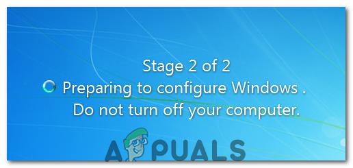 Beheben Sie Windows 7 oder 10, die bei der Vorbereitung der Konfiguration hängen geblieben sind
