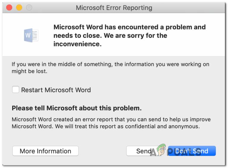 [FIX] Fehler beim Öffnen von Word oder Outlook auf einem Mac (EXC_BAD_INSTRUCTION)