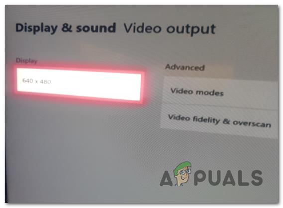 Fehlerbehebung bei Xbox One mit einer Auflösung von 640 x 480