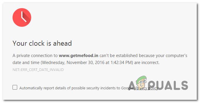 Google Chrome: Ihre Uhr ist voraus