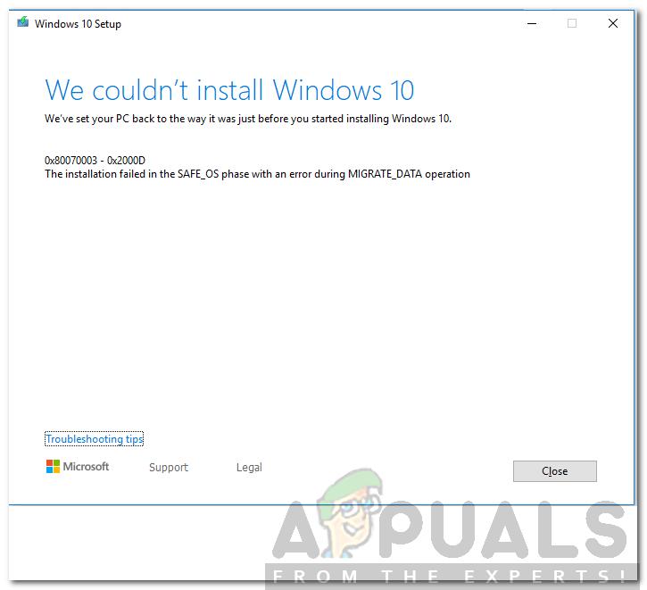 So beheben Sie den Windows-Upgrade-Fehlercode 0x80070003 – 0x2000D