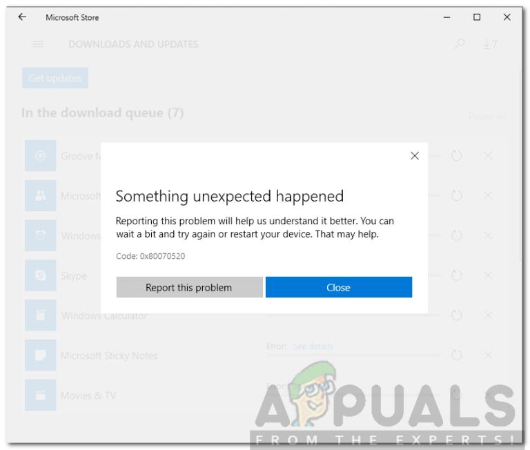 So beheben Sie den Microsoft Store-Fehlercode 0x80070520