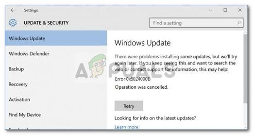 Fix: Windows Update-Fehler 0x8024000b unter Windows 10
