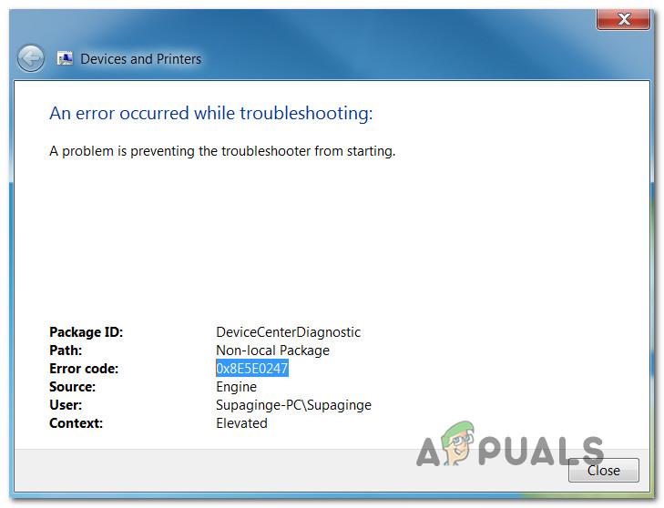 So beheben Sie den 0x8e5e0247-Fehler unter Windows