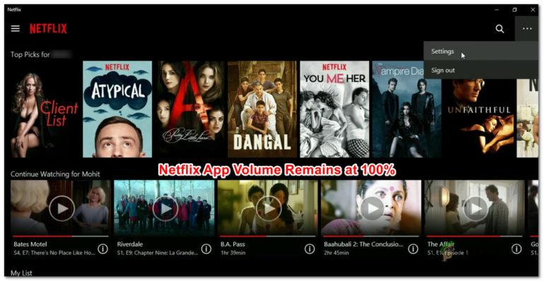 So beheben Sie das verbleibende Netflix-App-Volumen auf 100%