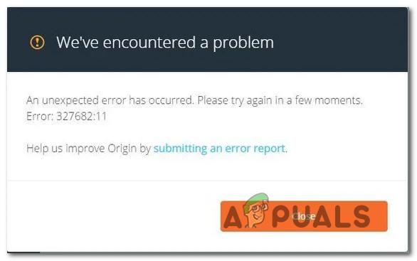 Fix: Fehler 327682: 11 beim Herunterladen von Spielen von Origin