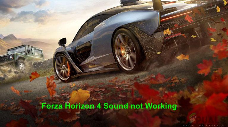 So beheben Sie keinen Ton in Forza Horizon 4